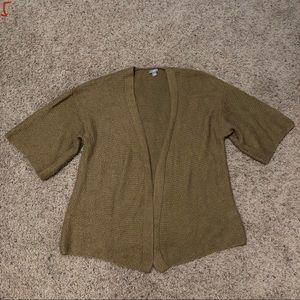 J. Jill Open Front Knit Cardigan Sweater